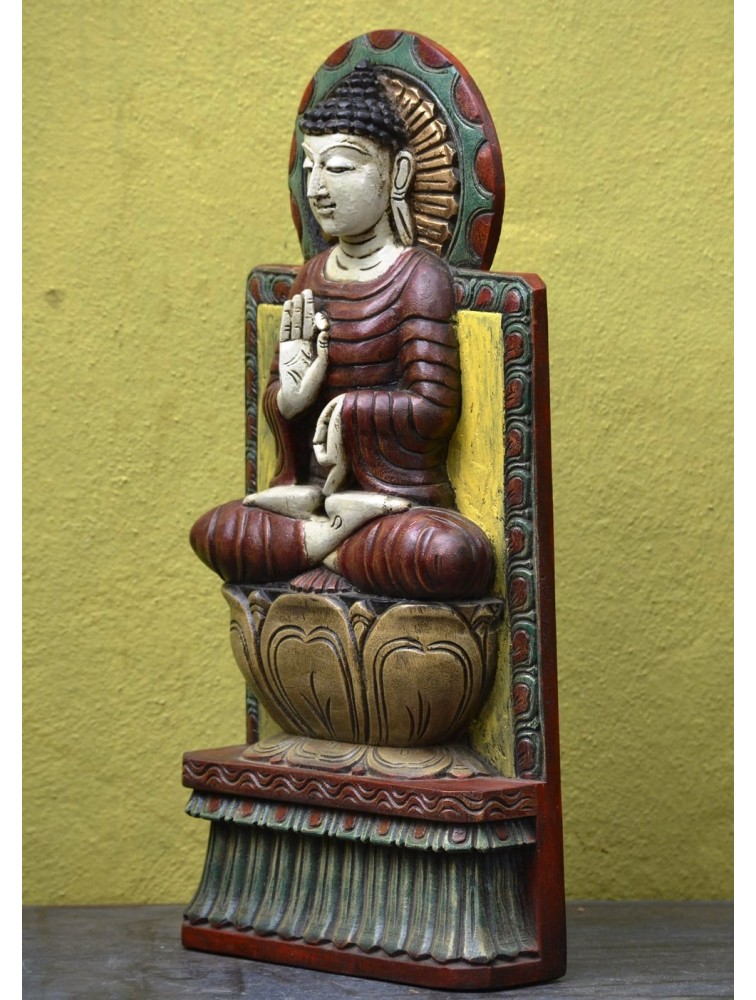 Lord Buddha Shows  VITARKA Mudra (Gesture of discussion) Multicoloured