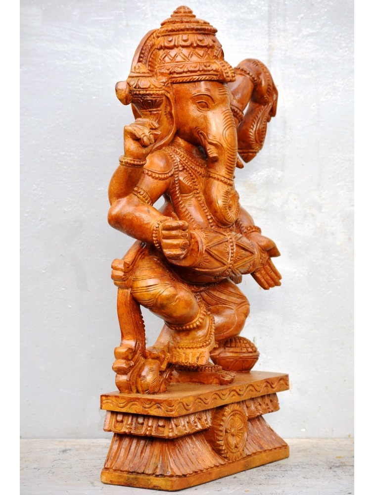 Lord Ganesh Dancing With Dholak