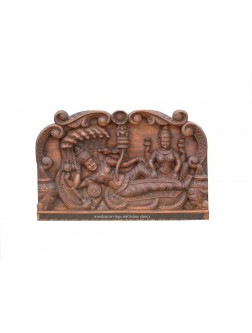 Wooden Wall Panel Of Ranganathar With Lakshmi