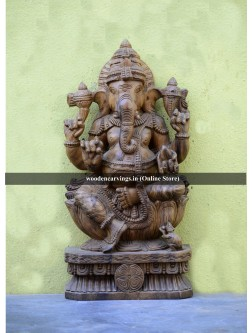 Ganesha Wood made sculpture