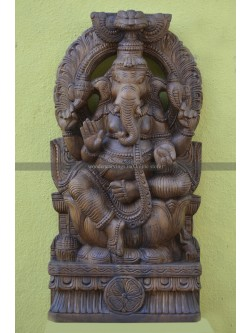 Wall Mount Blessing Ganesha with Arch