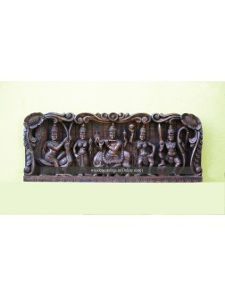Lord Krishna Wooden Wall Mount panel