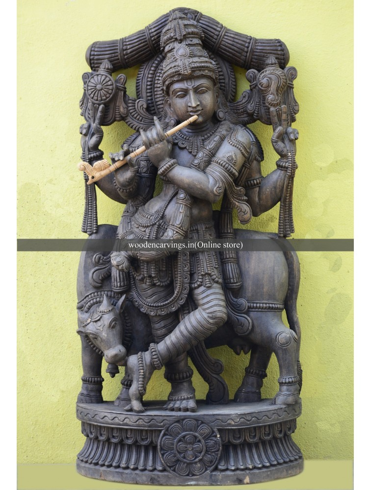 VenuGopala Wooden Sculpture