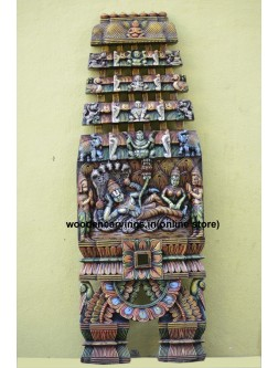 Large Size Multicoloured Wooden Wall mount Rangantha Kaavadi