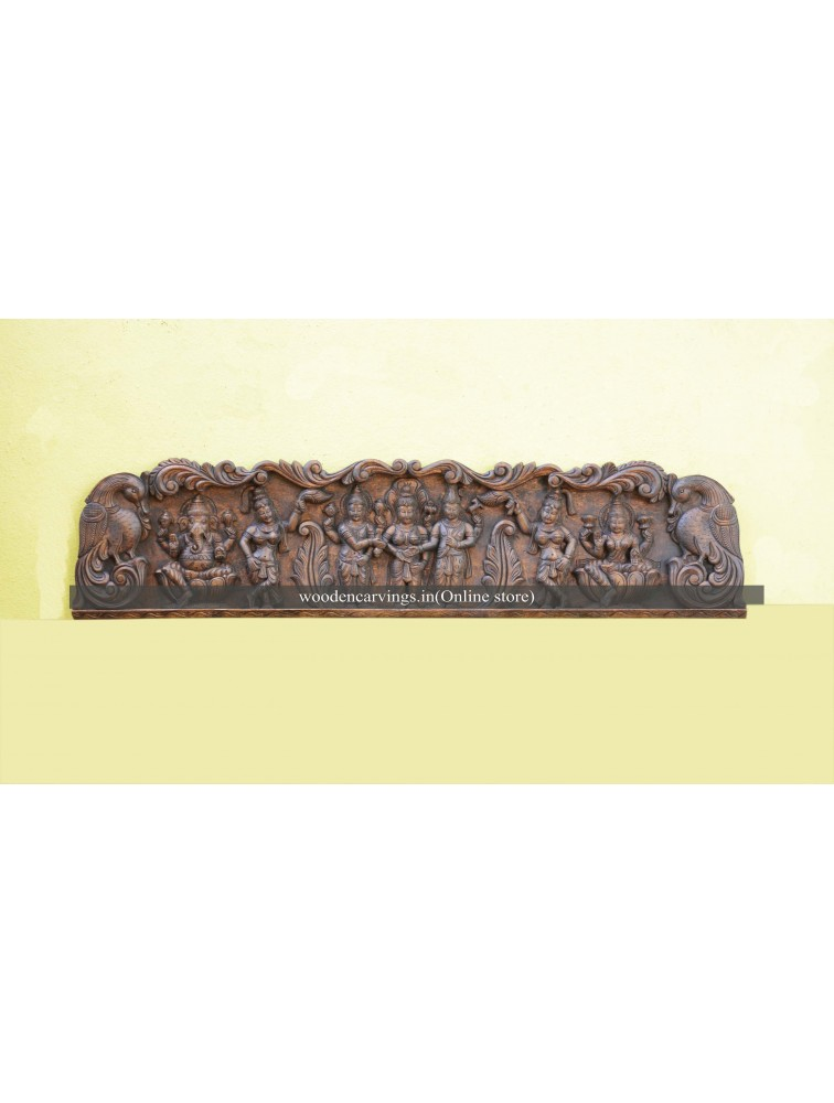Meenakshi Thirukalyanam wall mount with Ganesh and Lakshmi