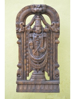 Thirumala Thirupathi Baalaji Wooden wall Mount Sculpture