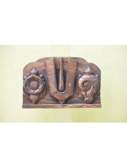Conch,Ram and Chakra Small Size Wall Mount Panel