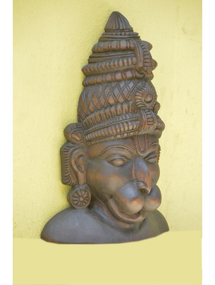 Lord Hanuman Wooden Mask