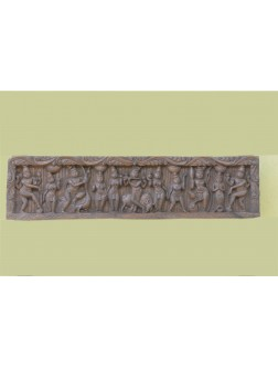 Horizontal Wall Mount Pannel of Lord Krishna with Dravapalanga