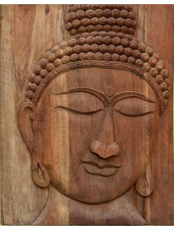 Teak Wood Made Buddha Wall Mount