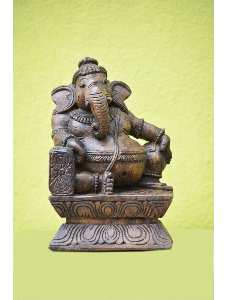 Small Size Wooden Ganesh Statue