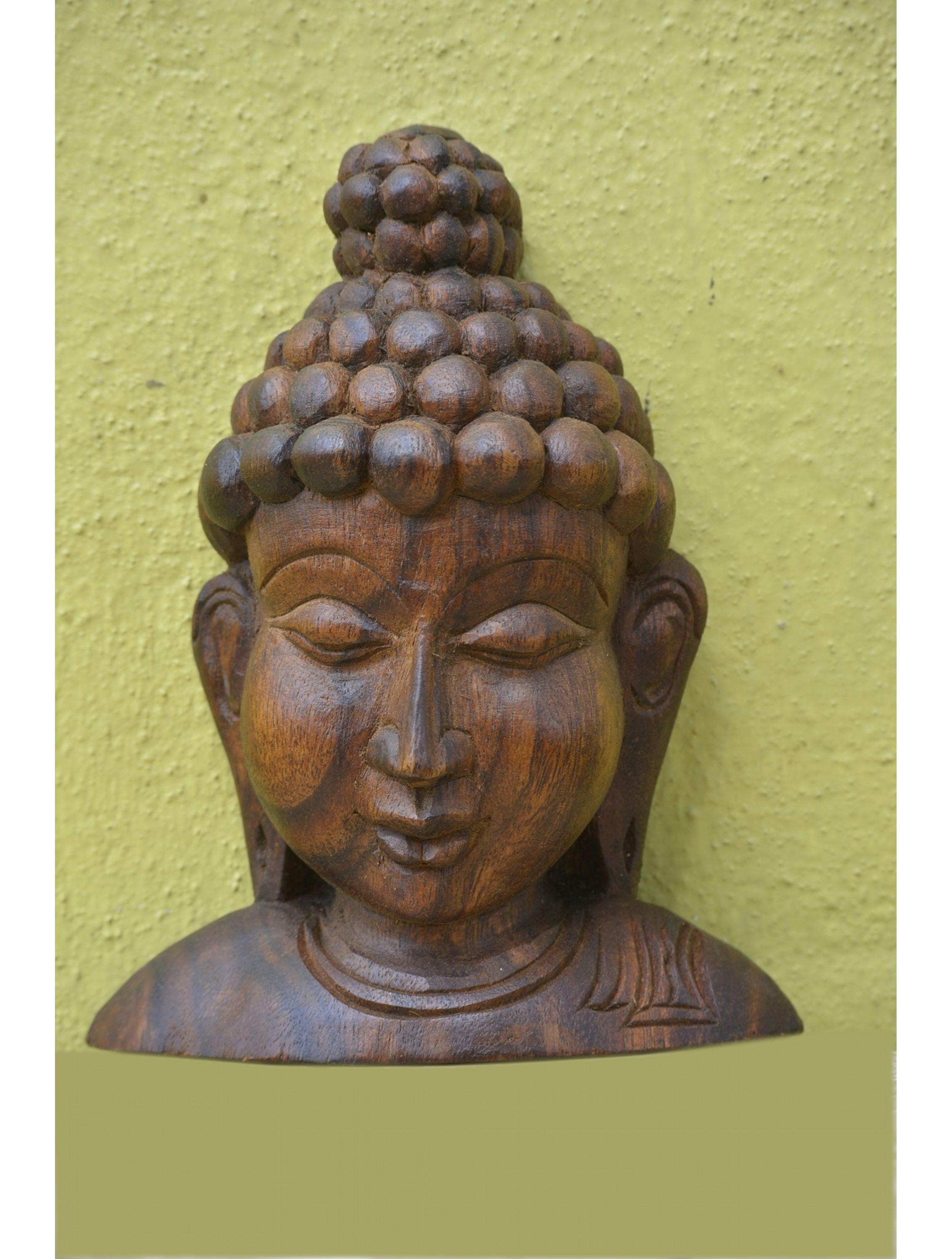Small and Cute Wooden Buddha Bust