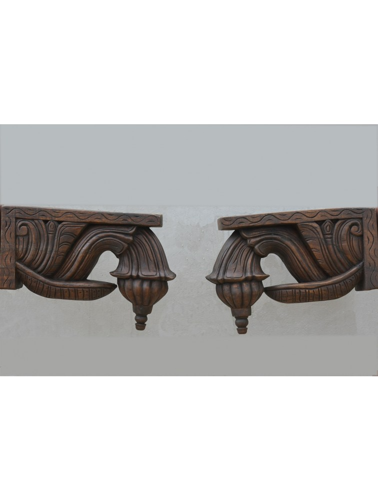 Chettinad Type Wooden Bodhil Brackets