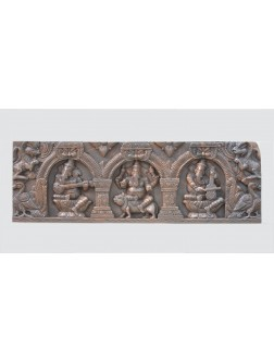 Ganesha's Musical Wooden Wall Mount Panel