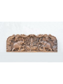 Ganesha Wooden Wall Mount Panel