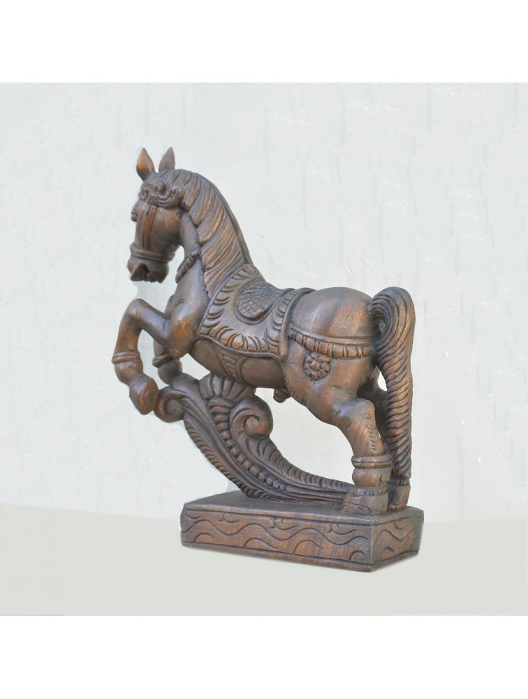 Table Top  Full- Figure Wooden Horse Statue