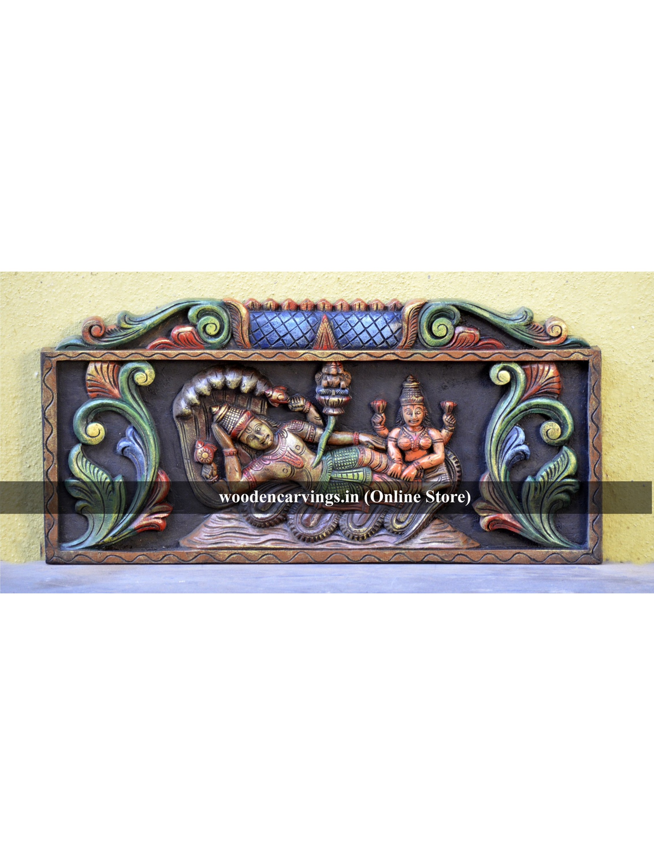 Multicoloured Coloured Ranganathar decor panel