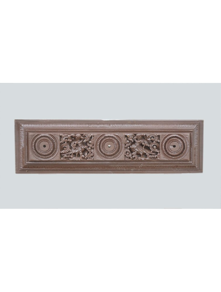 Detailed Teak Wood Wall Panel