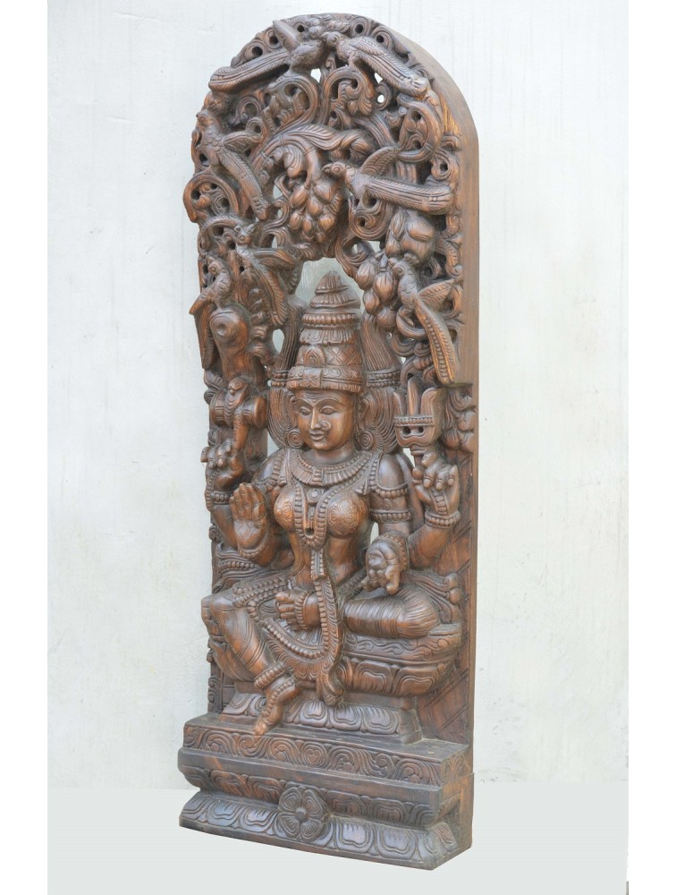 Wooden Jolly Work of Goddess Devi