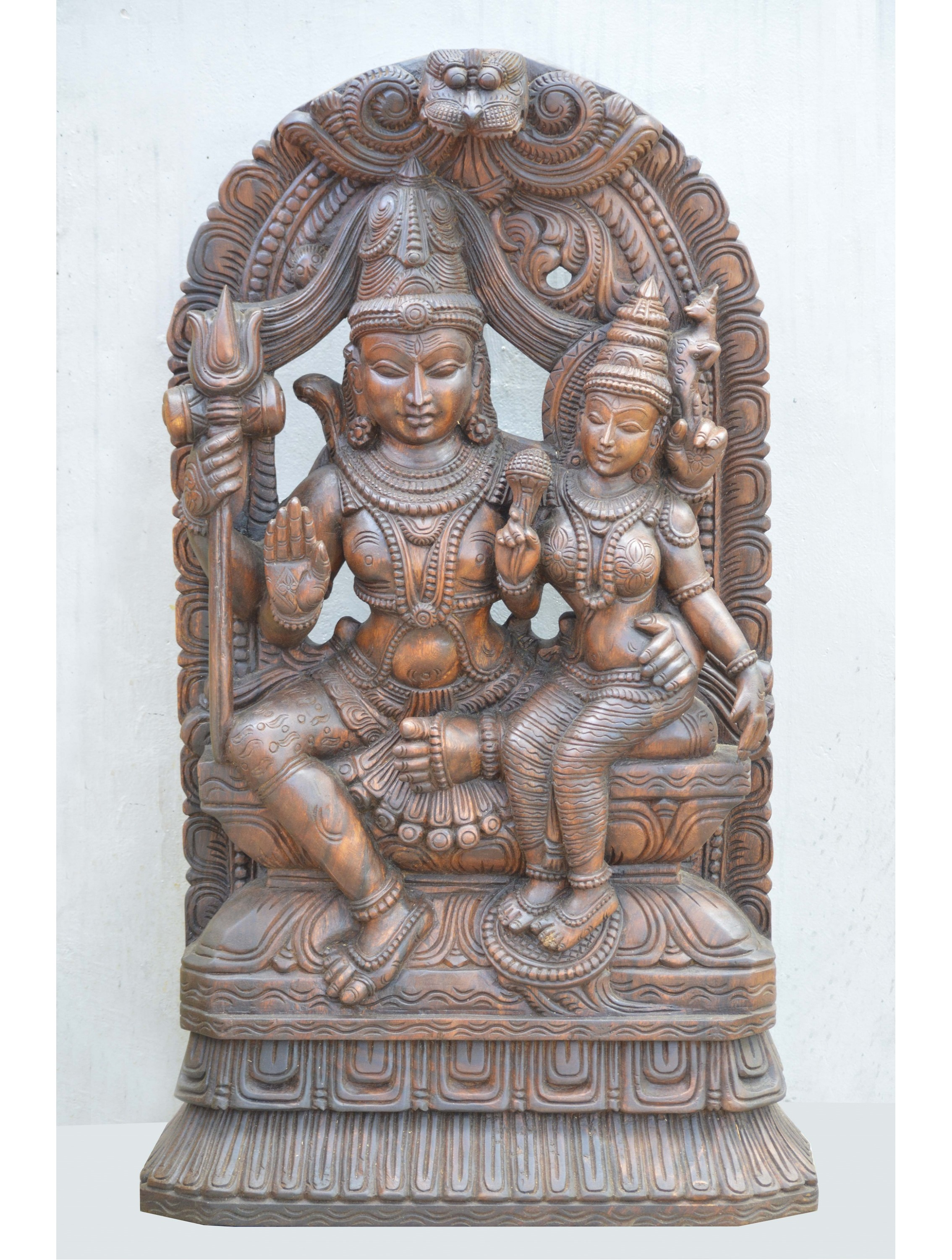 Lord Shiva and  Parvathi With Kritimukha Arch