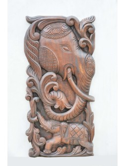 Elephant Wooden wall Mount