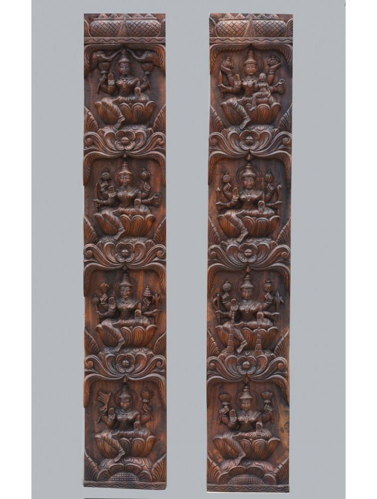 Vertical Wall Mount Panel of Eight Lakshmi(Asta Lakshmi)