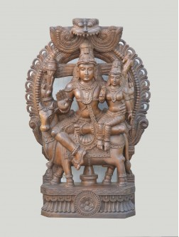 Pradhosa Murti Wooden Sculpture With Arch