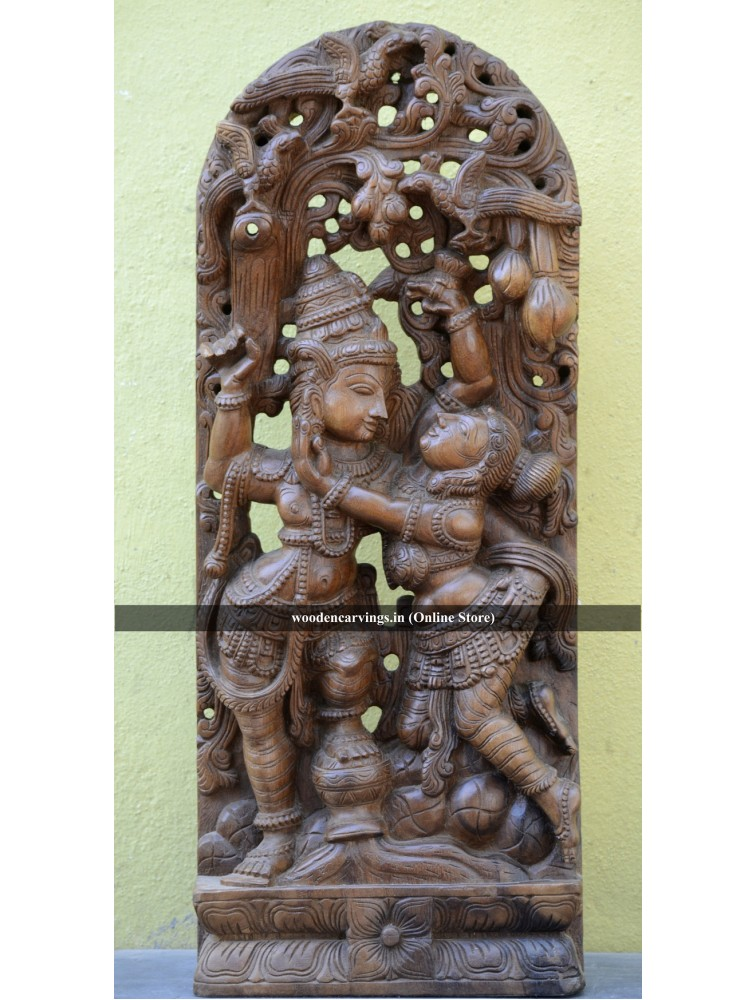 Dancing Radha and Krishna Wall mount statue