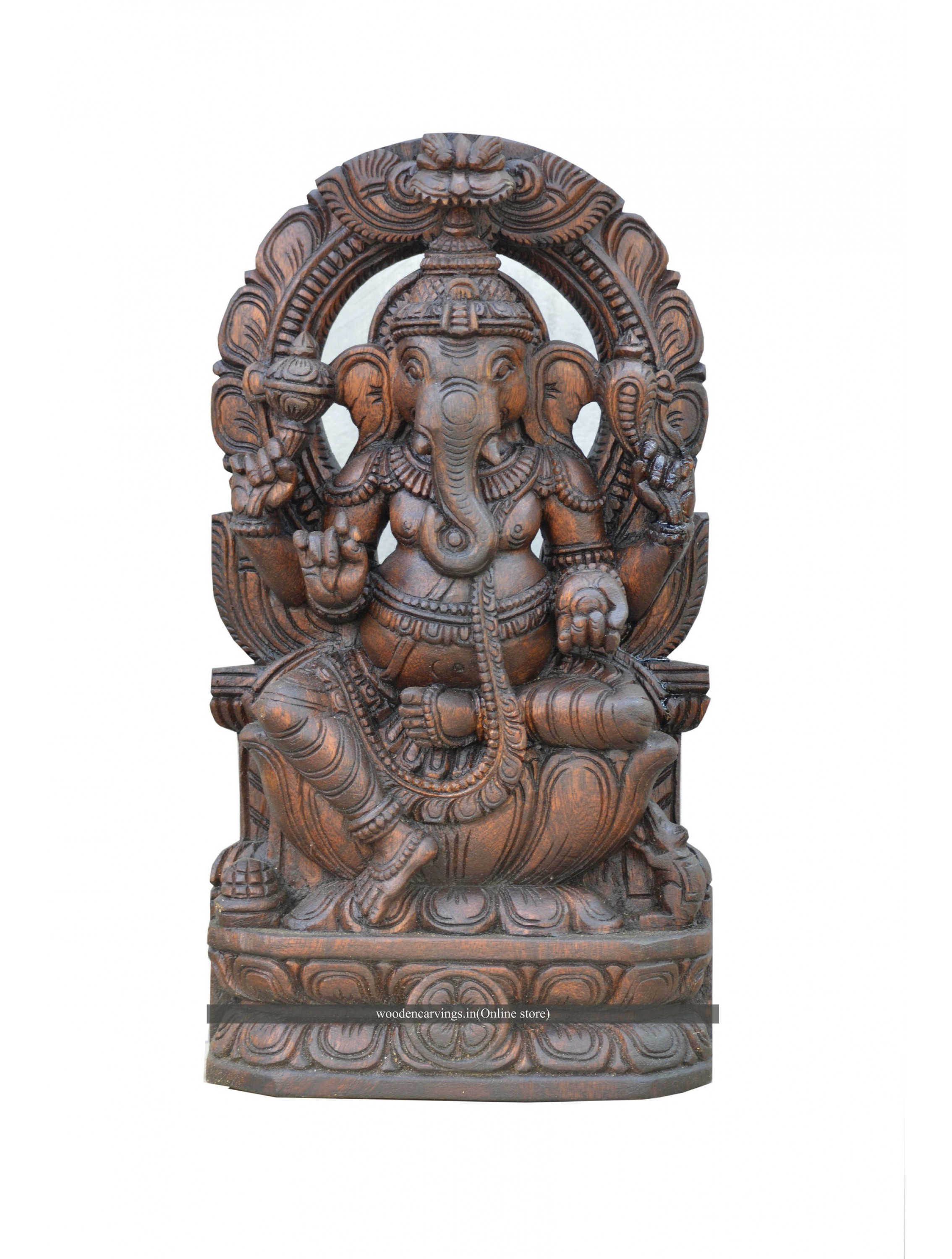 Wooden Wall Mount Of Ganesha