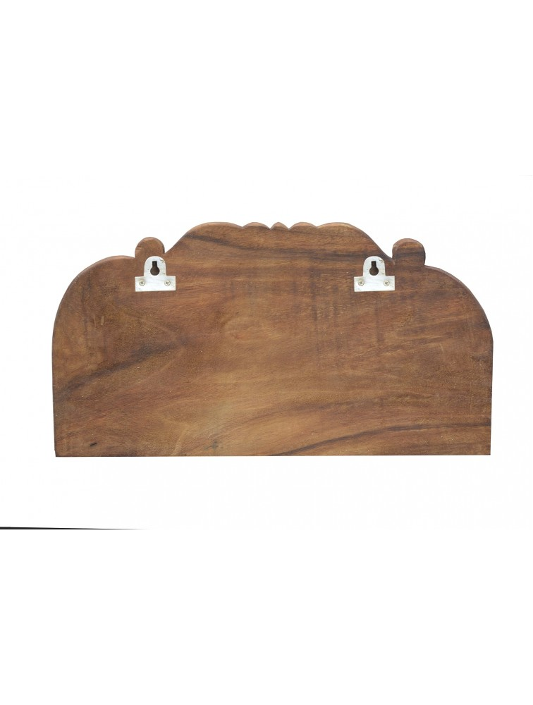 Lord Ganapathi Reclining Wooden Wall Mount Sculpture