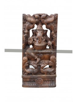 Wooden Wall Mount Of Lord Ganesha