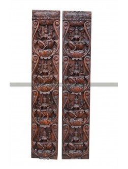 Buy An  AshtaLakshmi  Vertical Wooden Wall Mount Panel
