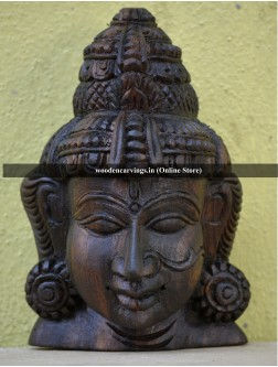 Goddess Devi wooden Mask