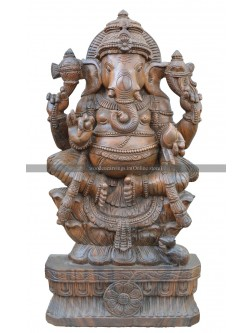 Hindu God Ganesha Seated as Rajaleelashana
