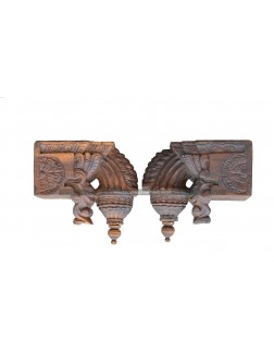 Buy An Handcarved Special Wooden Bodhil Wall Brackets