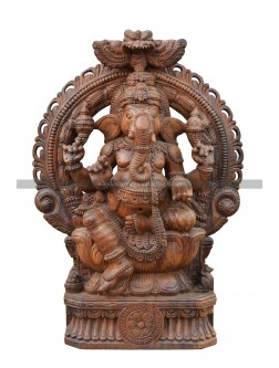 Buy An Wooden Deity Of Lord Ganesha With Arch Design