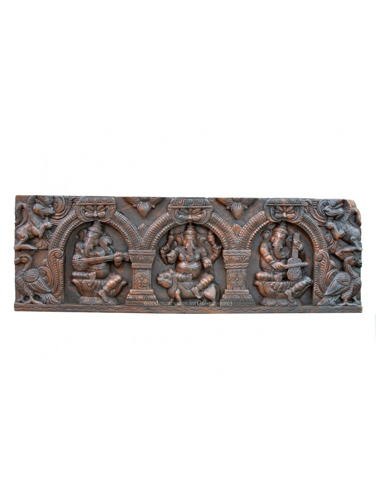 Buy An Wooden Ganesha's Musical Wall Panel