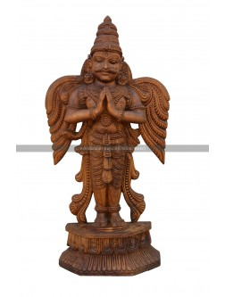 Handcarved Garuda-(The Vishnu's Vahana) Wooden Sculpture