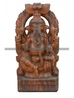 Buy An Wooden  Deity of Lord Ganapathi With Arch Design