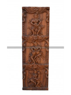 Wall Panel Of Apsara Playing Different Musical Instrument