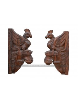 Buy An Small Size Wooden Parrot Wall Brackets
