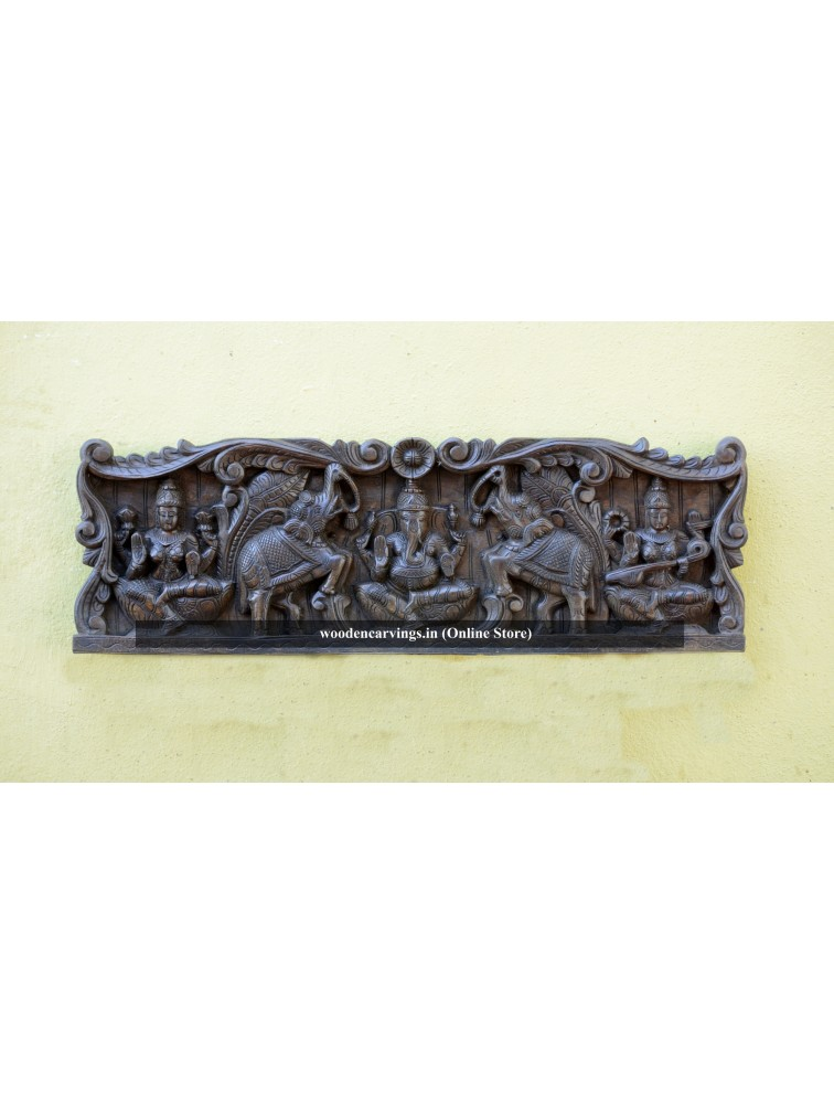 Buy Lakshmi,Ganesha,and Saraswathi Wall mounting Panel