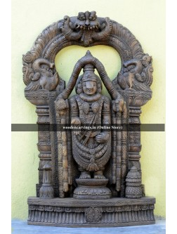 Buy Wooden Thirumala Baalaji Wooden Sculpture