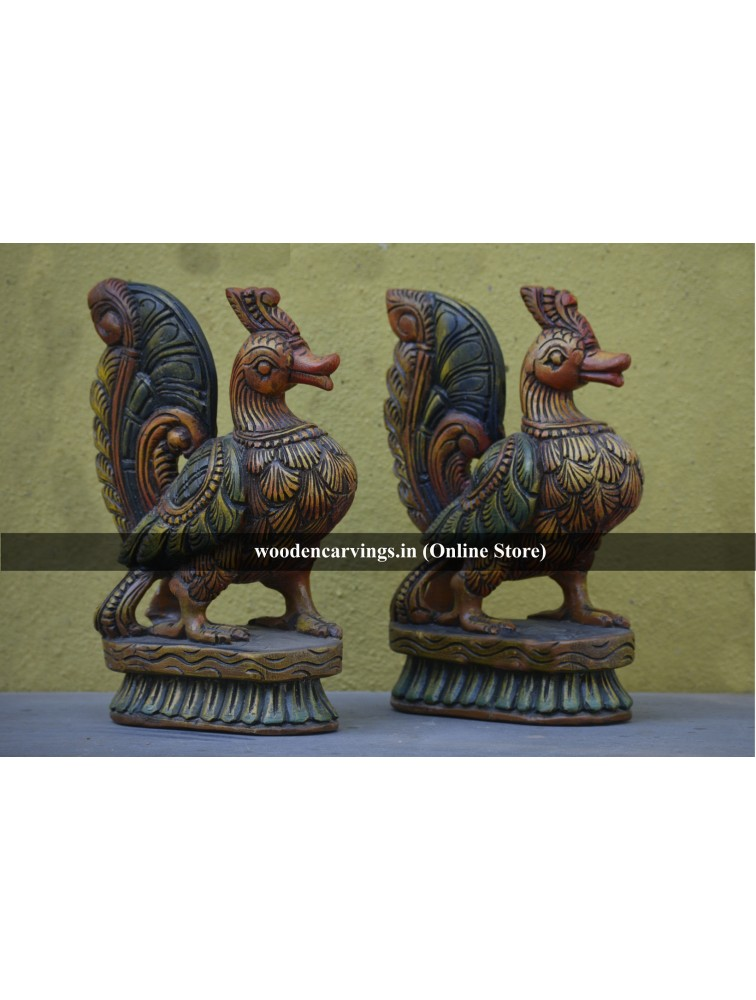 Coloured Hamsa Bird Pair